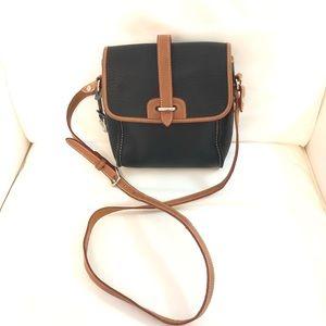 Dooney & Bourke Black and Tan Crossbody Bag